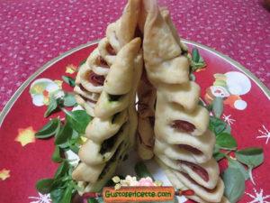 Albero Natale salato pasta brisee