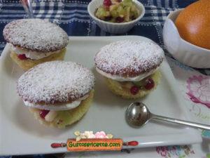 Muffins granadilla champagne frutta fresca