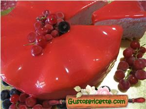 Cheesecake frutti di bosco e glassa a specchio