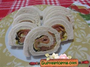 Girelle di pancarrè zucchine e salmone