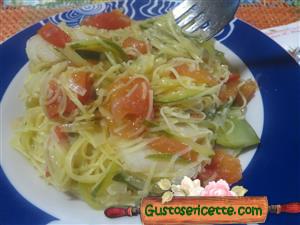 Maccheroncini di Campofilone zucchine e topinambur