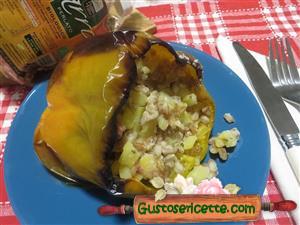 Peperoni ripieni con farro e patate