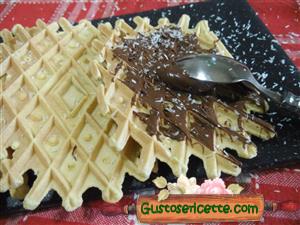 Ferratelle dolci con farina di cocco