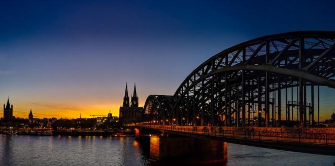 Panorama Köln Deutzer Brücke und Dom