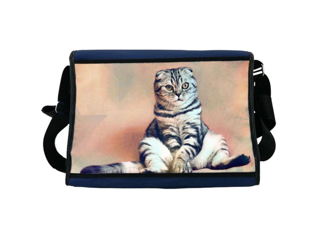 Tasche bedruckt mit Katzenbild