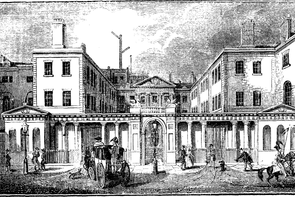 The Admiralty office, Whitehall.