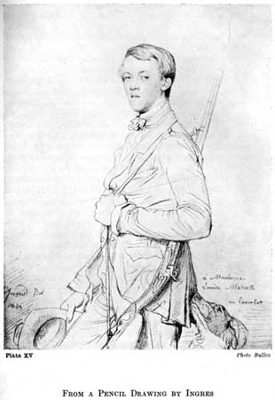 Plate XV. FROM A PENCIL DRAWING BY INGRES Photo Bulloz