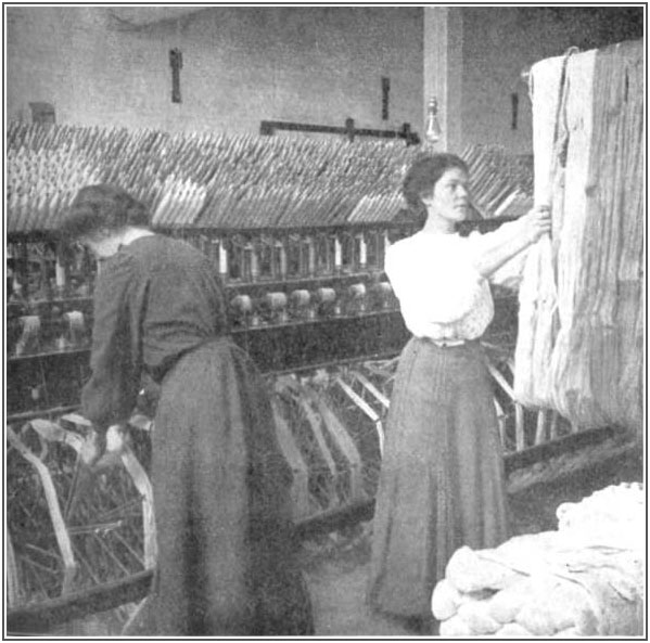 Linen-mill workers
