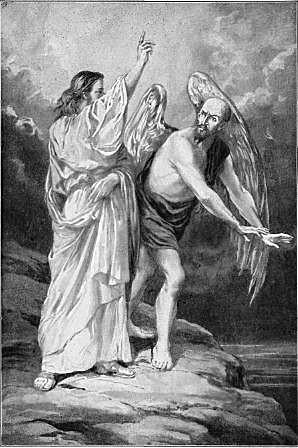 Christ rebuking Satan