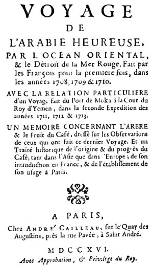 Title Page of La Roque's Work, 1716