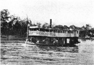 A Coffee Freighter on the Cauca River, Colombia