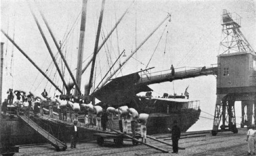 Old and New Methods Employed in Loading Heavy Cargo on the Santa Cecilia