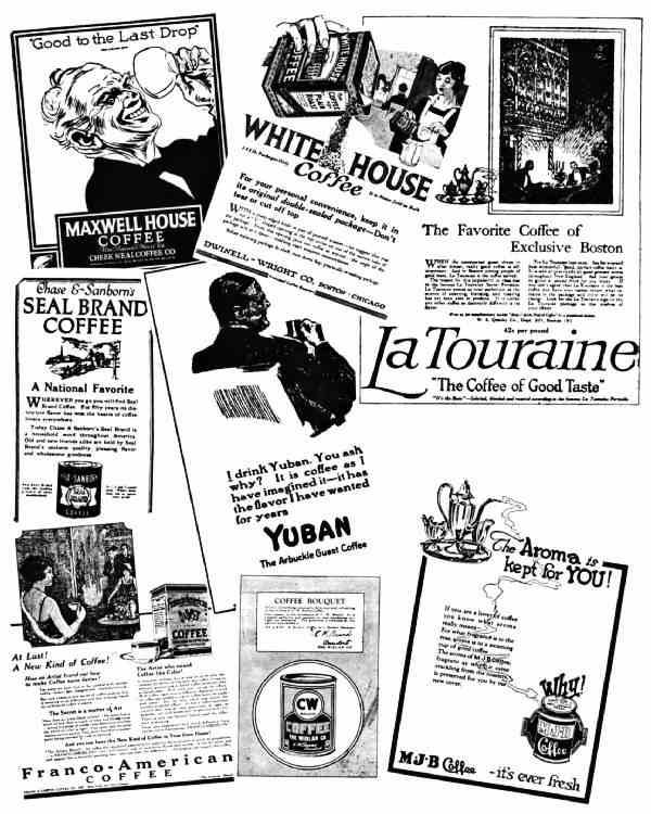 PACKAGE-COFFEE ADVERTISING IN 1922