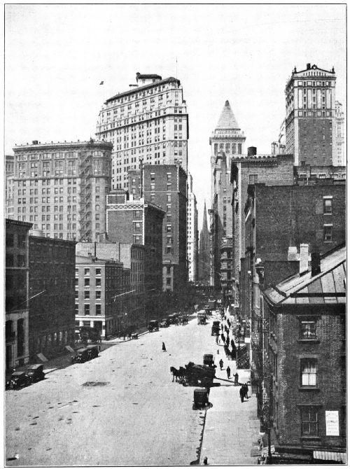 WALL AND FRONT STREETS, NEW YORK, SPRING OF 1922