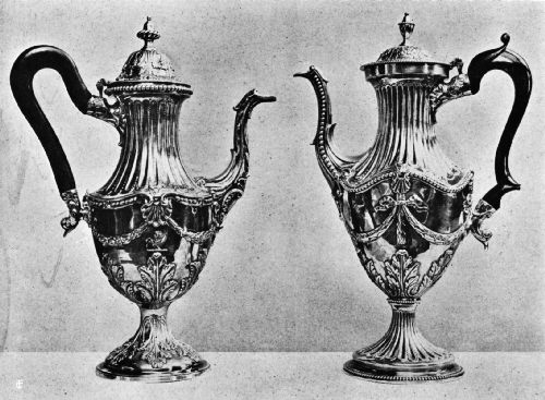 Silver Coffee Pots, Late Eighteenth Century
