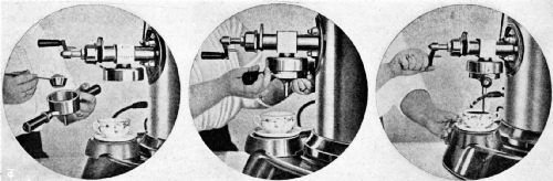 Showing How the Italian Rapid Coffee Machine Works