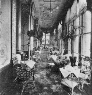 Tea Balcony in the Hotel Cecil, London
