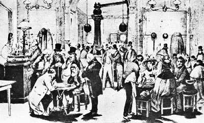 Interior of a Typical Parisian Café of the Early Nineteenth Century