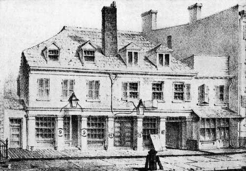 Burns Coffee House as It Appeared About the Middle of the Nineteenth Century