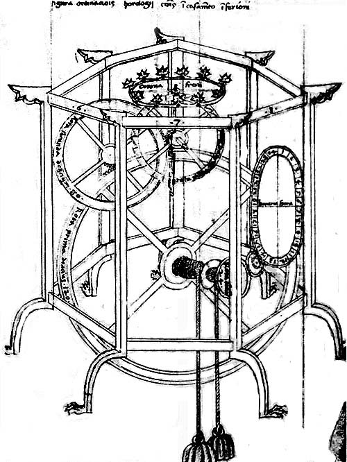 Framework Structure of the Astronomical Clock of Giovanni de Dondi of Padua, A.D. 1364.