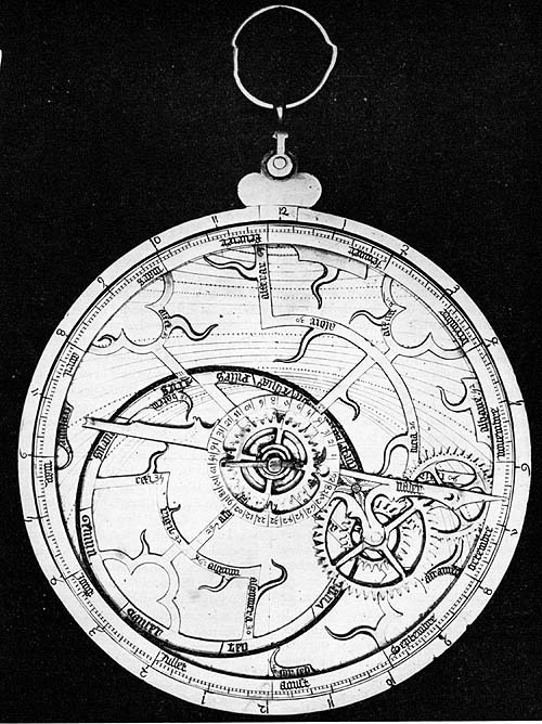 French Geared Astrolabe of Trefoil Gothic Design.