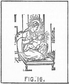 virgin Devaki with her son Crishna