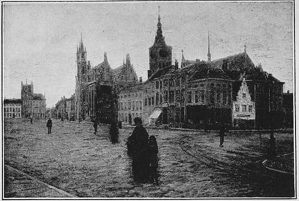 LA GRAND' PLACE, DIXMUDE (From a picture by M. Léon Cassel)