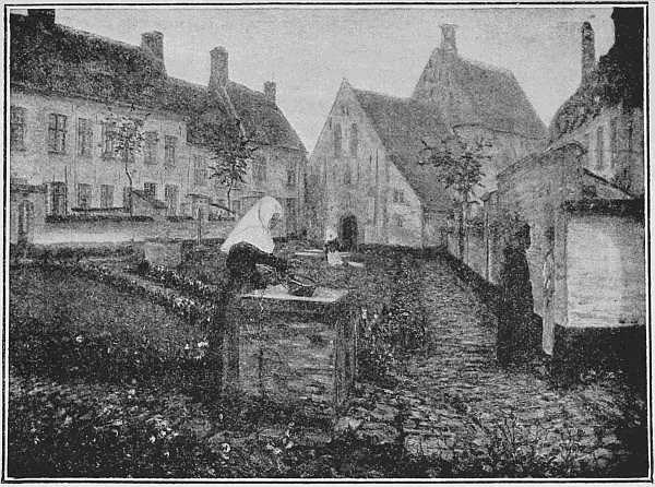 THE BÉGUINAGE AT DIXMUDE (From a picture by M. Léon Cassel)