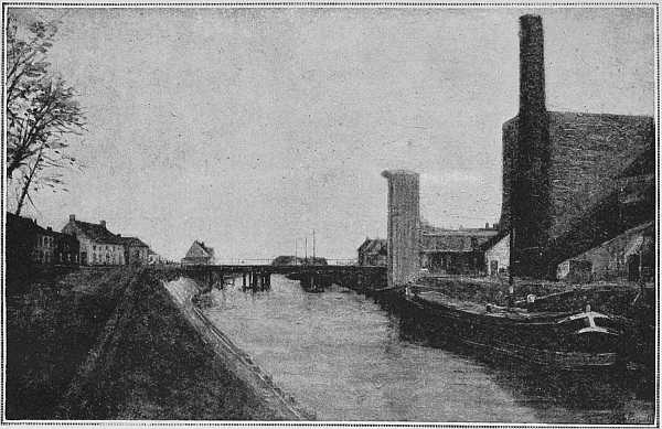 THE BRIDGE AND FLOUR FACTORY (From a picture by M. Léon Cassel)