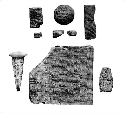 Inscriptions on clay