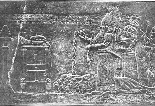 Ashur-bani-pal pouring out a libation