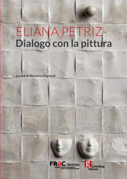 copertina del catalogo d'arte di eliana petrizzi