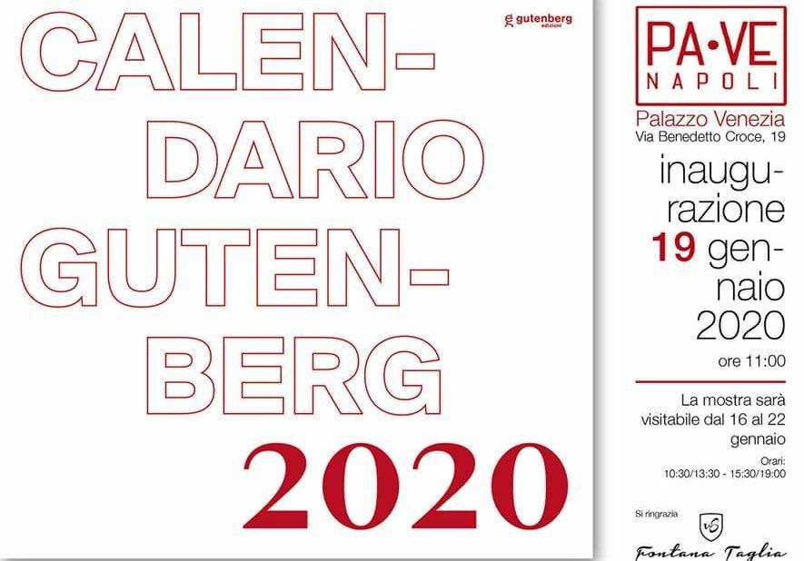 Calendario Gutenberg 2020: Ecco le 12 opere selezionate