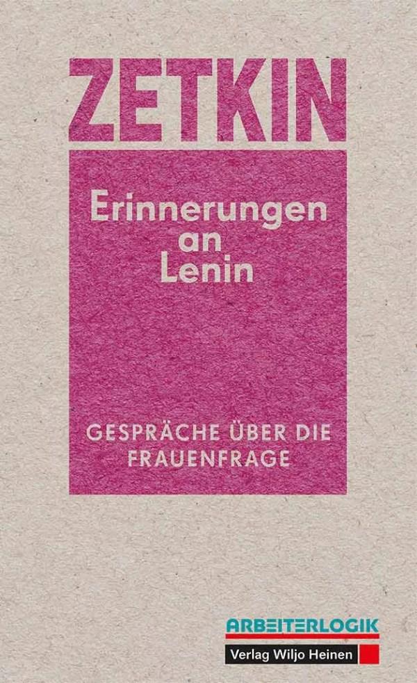 Cover: Clara Zetkin »Erinnerungen an Lenin«