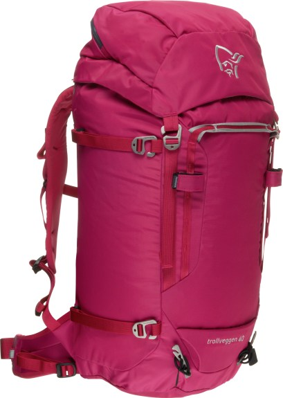 Norrøna Trollveggen backpack 40l_graffiti pink