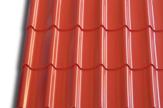 profiled sheet metal in tile look