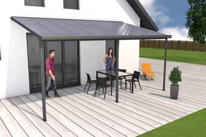Terrassendach anthrazit 3x5m
