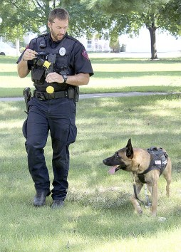 K9 Officer Casey Cox with partner K9 Rico