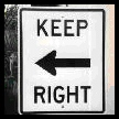 Funny Road signs - keep left? - or right?