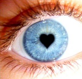Valentine's love in the eye