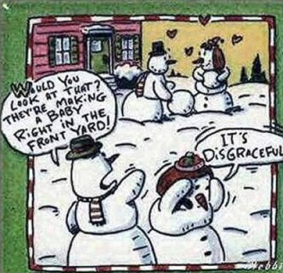 Another funny snowman cartoon