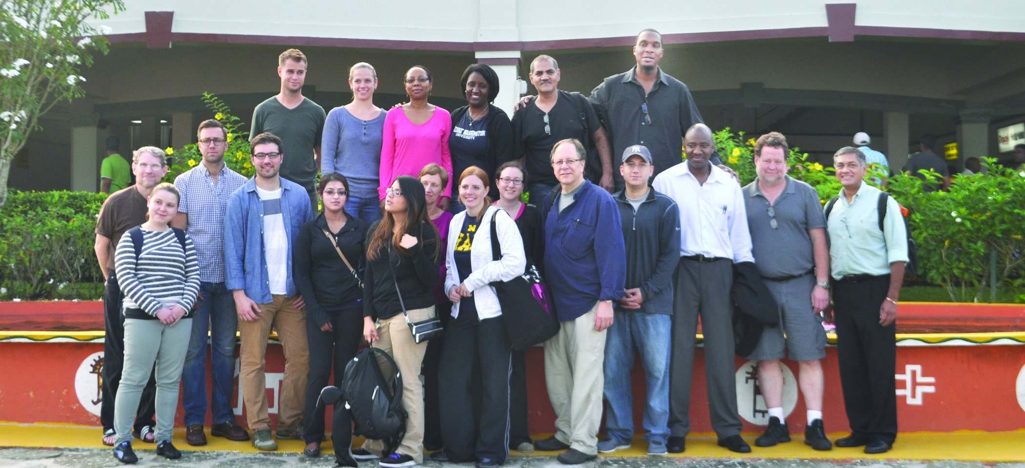 George Washington University Hospital team on Guyana