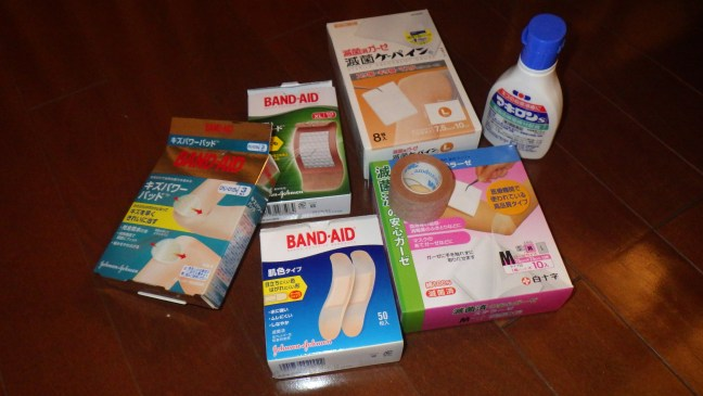 Band-Aids and disinfectant