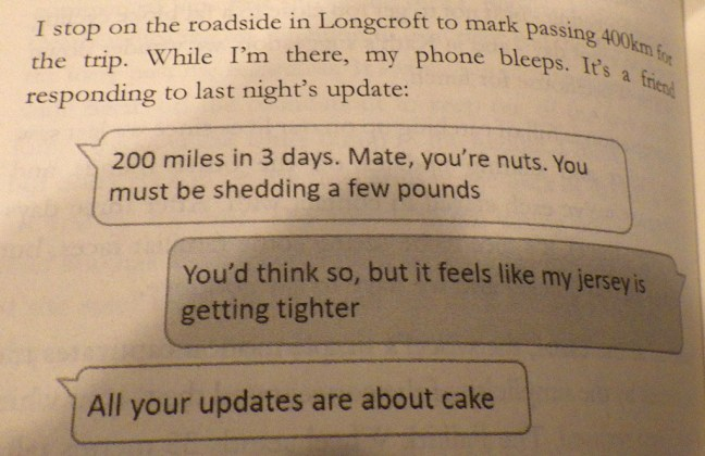 Text conversation reproduced from book