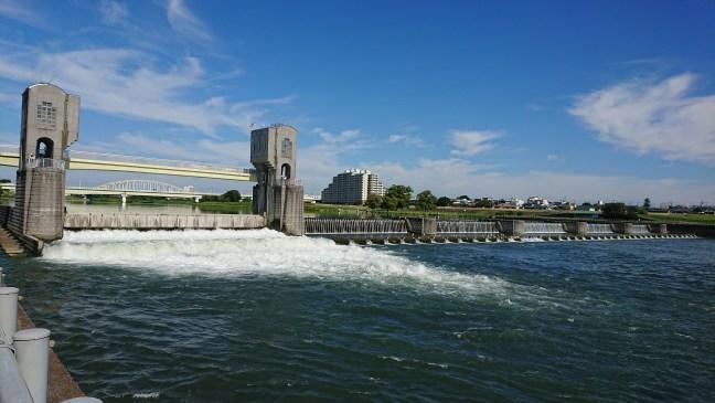 Tama River runs high
