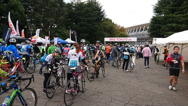 Riders lined up to start