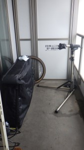 Bicycle bag and work stand