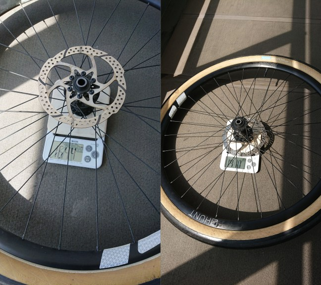 Weighting a wheel before and after tubeless conversion