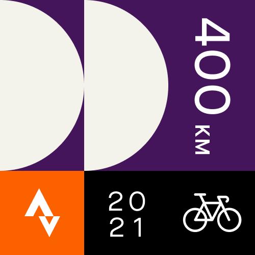 Strava 400km badge