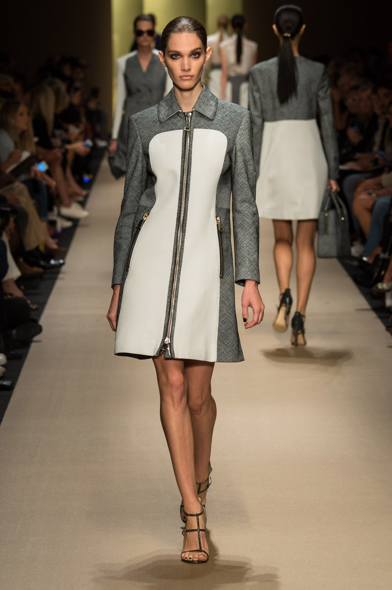 Guy Laroche coatdress by Marcel Marongiu, Spring 2015